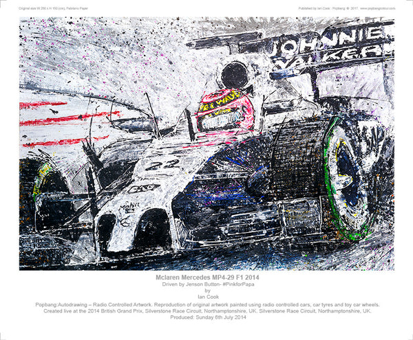 F1 Mclaren Mercedes MP4-29 2014 driven by Jenson Button #PinkforPapa - POPBANGCOLOUR Shop