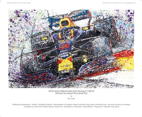 2018 Aston Martin Red Bull Racing F1 RB14 - POPBANGCOLOUR Shop