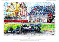 F1 Tyrrell 009 - Bill Coombs winning at the Silverstone Classic - POPBANGCOLOUR Shop