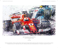 F1 2017 Scuderia Ferrari SF70 driven by Sebastian Vettel - POPBANGCOLOUR Shop