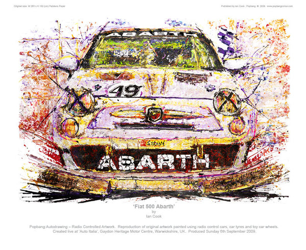 Fiat 500 Abarth - POPBANGCOLOUR Shop