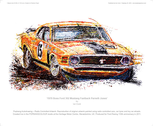 1970 Boss Ford 302 Mustang Fastback Parnelli Jones - POPBANGCOLOUR Shop