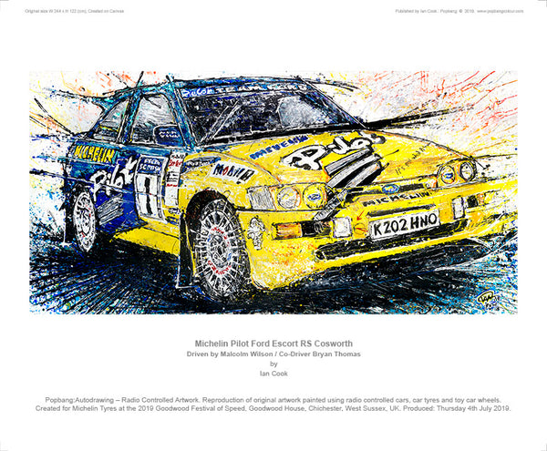 Michelin Pilot Ford Escort RS Cosworth - POPBANGCOLOUR Shop