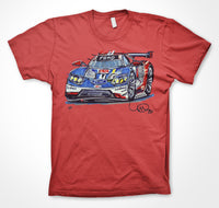 Ford Performance GT LM Ford Chip Ganassi Team Andy Priaulx #ContinuousCar Unisex T-shirt