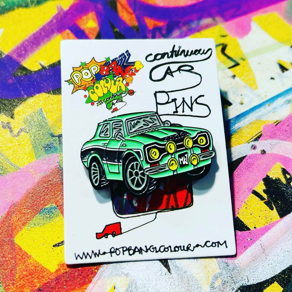 Ford Escort MK1 | Green & Black | Limited edition enamel pin badge |  25 only