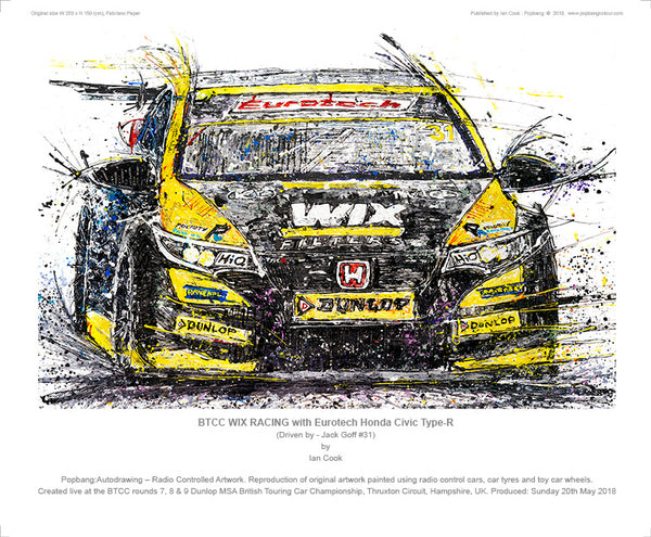 BTCC WIX RACING with Eurotech Honda Civic Type-R - Jack Goff #31 - POPBANGCOLOUR Shop