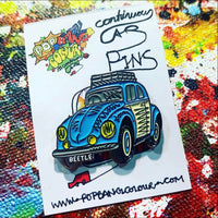"Limited edition VW ""Baloo the Beetle"" blue enamel pin badge - 