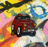 Limited edition red Fiat 500 enamel pin badge - | 33  only