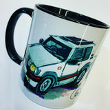 Peugeot 205 GTi 's - white and green| #ContinuousCar | Mug