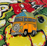 Limited edition VW T2 Camper - orange - enamel pin badge - | 33  only