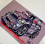 MINI GP2 | #ContinuousCar metal print | 30cm x 20cm