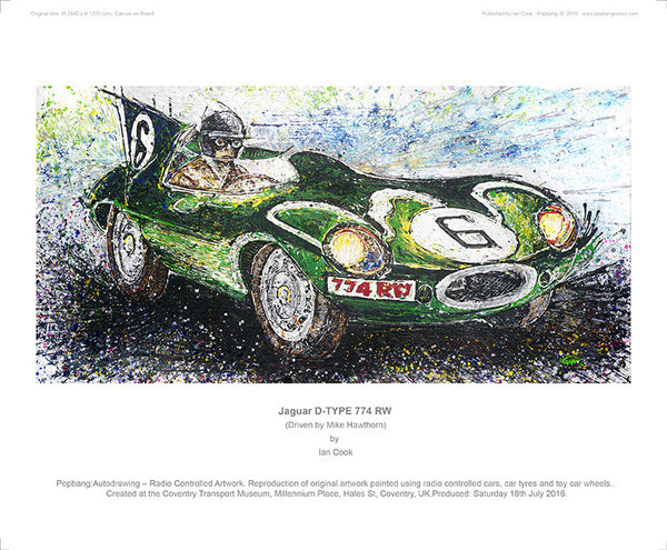 Jaguar D-TYPE 774 RW (Mike Hawthorn) - POPBANGCOLOUR Shop