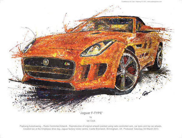Jaguar F-Type - POPBANGCOLOUR Shop