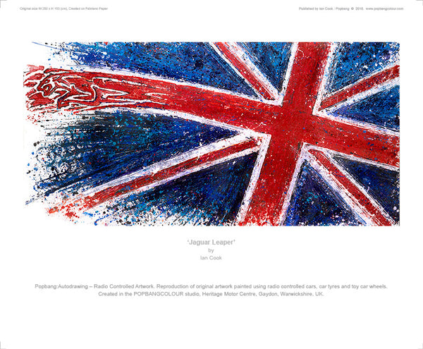 Jaguar Leaper Union Flag - POPBANGCOLOUR Shop