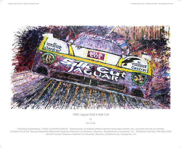 Jaguar XJR-8 Silk Cut 1987 - POPBANGCOLOUR Shop