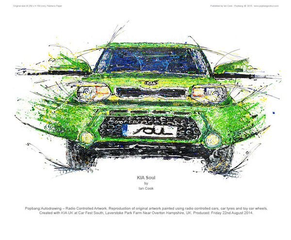 KIA Soul - (green) C4R FEST South - POPBANGCOLOUR Shop
