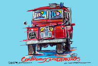 Land Rover Series 1 Fire tender #ContinuousCar metal print | 30cm x 20cm