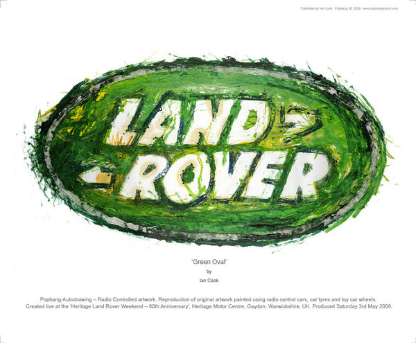 Land Rover - Green Oval - POPBANGCOLOUR Shop