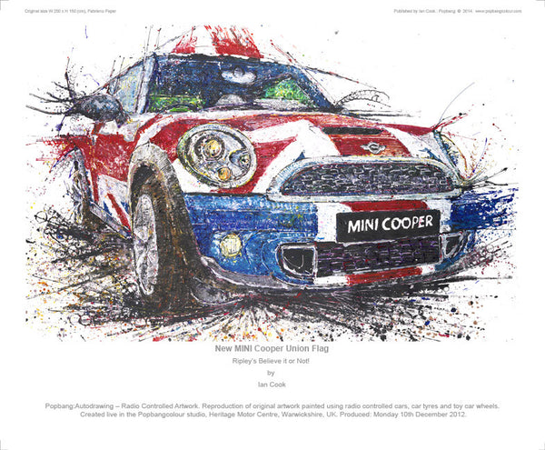MINI Cooper Union Flag  (Ripley's Believe it or Not!) - POPBANGCOLOUR Shop