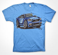 Ford Mustang GT - Blue #ContinuousCar Unisex T-shirt