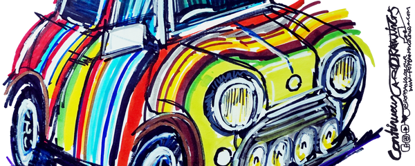 Colourful classic Mini | #ContinuousCar | Mug