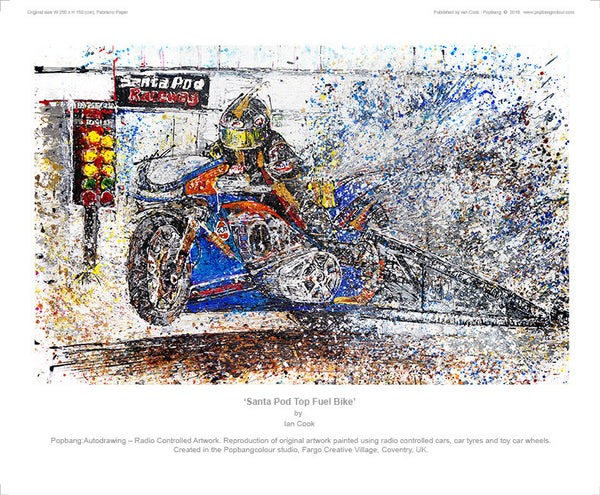 Santa Pod Top Fuel Bike - POPBANGCOLOUR Shop