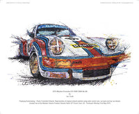 Porsche 911 (Vodka Martini) RSR 3000 No.86 1974 - POPBANGCOLOUR Shop