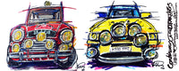 Ford Escort Cosworth & Mini Cooper EJB  #ContinuousCar | Mug
