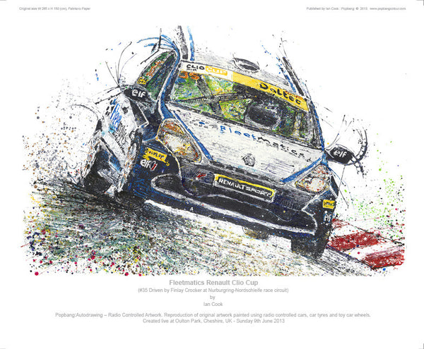 Renault Clio Fleetmatics  (Clio Cup #35 Finlay Crocker) - POPBANGCOLOUR Shop