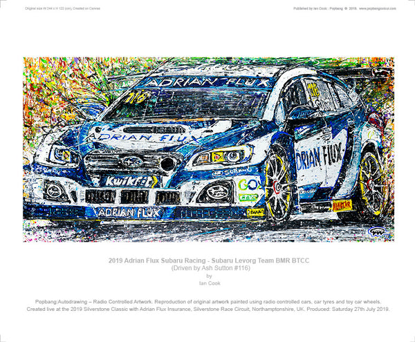 Adrian Flux Subaru Racing - Subaru Levorg Team BMR BTCC - Driven by Ash Sutton #116 - POPBANGCOLOUR Shop