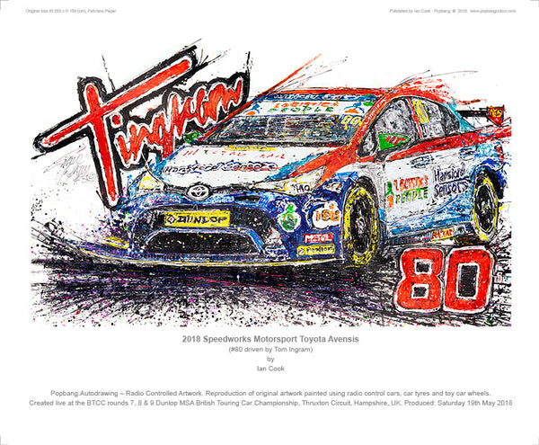2018 Speedworks Motorsport Toyota Avensis - Tom Ingram #80 - POPBANGCOLOUR Shop