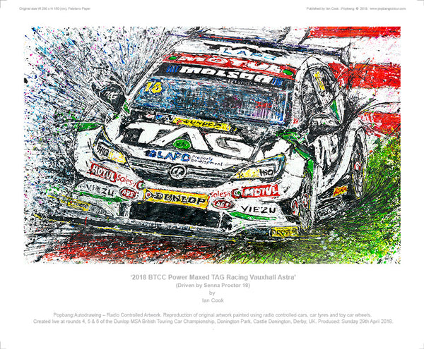 BTCC Power Maxed TAG Racing Vauxhall Astra - POPBANGCOLOUR Shop