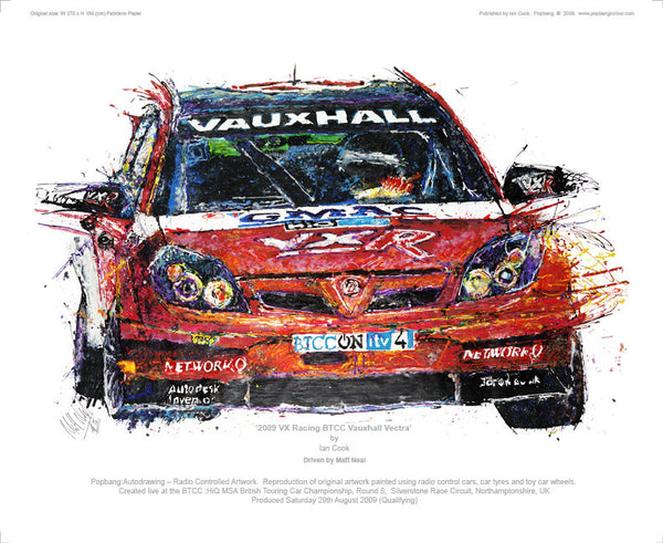 Vauxhall Vectra VX Racing BTCC 2009 - POPBANGCOLOUR Shop