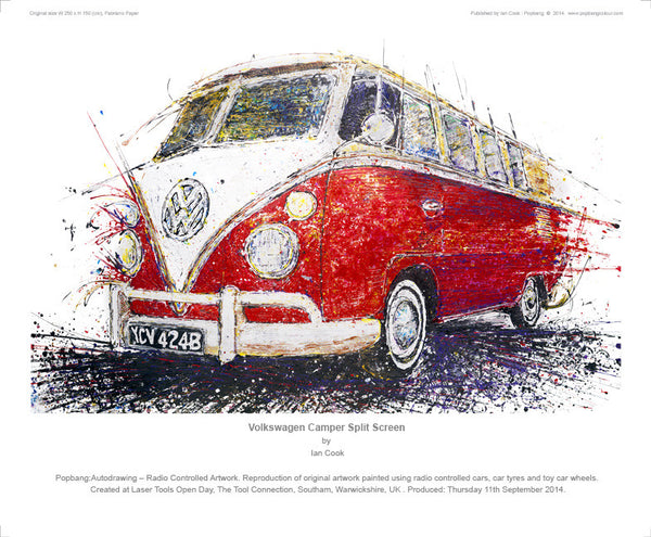 Volkswagen Camper Split Screen - POPBANGCOLOUR Shop