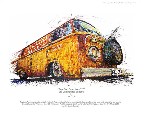 Volkswagen Type Two Detectives T2D Bay Window Camper - POPBANGCOLOUR Shop