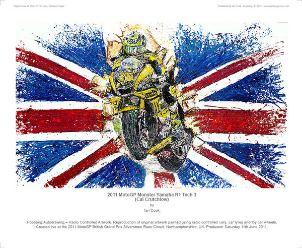 Yamaha 2011 MotoGP Monster R1 Tech 3 (Cal Crutchlow) - POPBANGCOLOUR Shop
