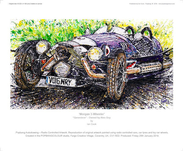 "Morgan 3-Wheeler - ""Genevieve"" - POPBANGCOLOUR Shop"