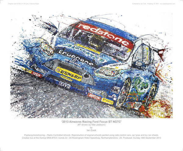 Ford Focus Airwaves Racing ST NGTC 2013 (Mat Jackson) - POPBANGCOLOUR Shop
