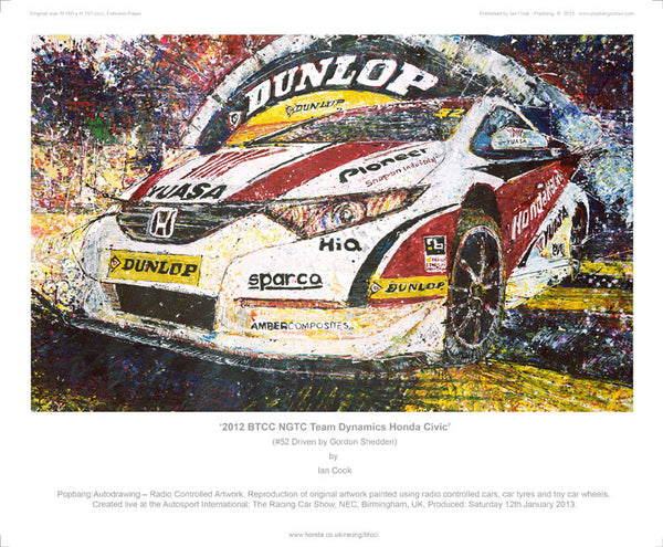 Honda Civic Team Dynamics BTCC NGTC 2012 (Gordon Shedden) - POPBANGCOLOUR Shop