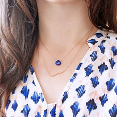 Lapis Droplet Necklace
