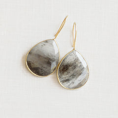 Rutilated Quartz Teardrops