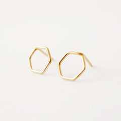 Tiny Hexagon Studs