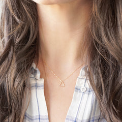 14k Gold Filled Tiny Triangle Necklace
