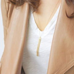 14k Gold Fill Tassel Necklace