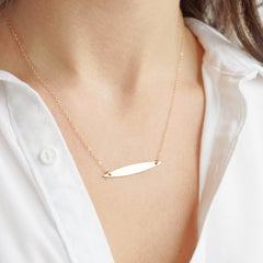 14k Gold Fill Marquise Necklace