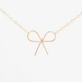 Handmade 14k Gold Filled Bow Necklace