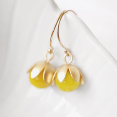 Yellow Bauble Earrings