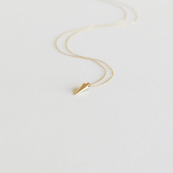 Tiny Gilded Spike Necklace