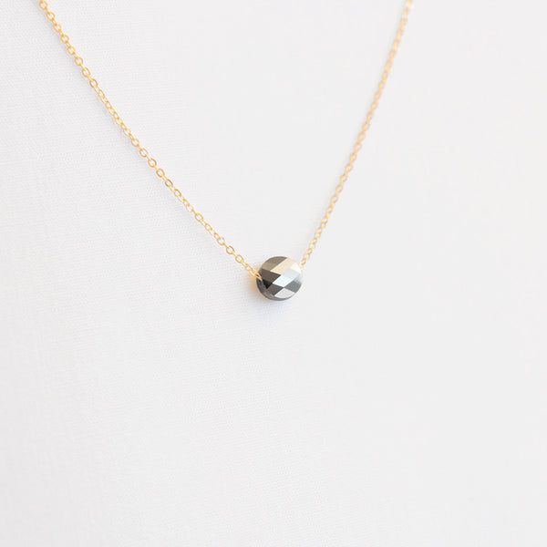Gunmetal Crystal Necklace