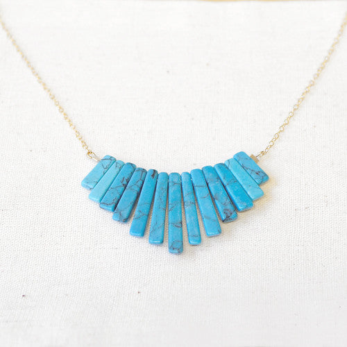 Turquoise Fan Necklace